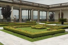 Chapultepec Schloss-Garten Stockbilder