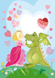 Chaque dragon a la princesse illustration libre de droits