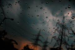 Chaque goutte de pluie est une mémoire Images libres de droits