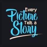 Chaque photo raconte une histoire illustration libre de droits