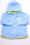 Chaqueta agradable azul del bebé Imagen de archivo