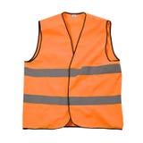 Chaqueta anaranjada de la seguridad Imagen de archivo