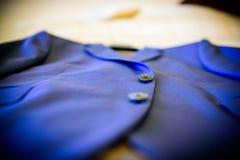 Chaqueta azul fotografía de archivo