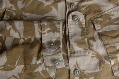 Chaqueta británica del uniforme del desierto del ejército Imágenes de archivo libres de regalías
