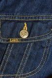 Chaqueta de los pantalones vaqueros de la marca de fábrica Imágenes de archivo libres de regalías