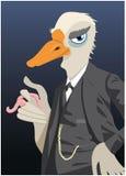 Chaqueta del ganso como caricatura Fotografía de archivo