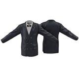 Chaqueta para hombre del traje en el ejemplo blanco 3D Imagen de archivo