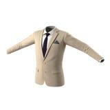 Chaqueta para hombre del traje en el fondo blanco Foto de archivo libre de regalías