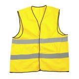 Chaleco amarillo de la seguridad Foto de archivo libre de regalías