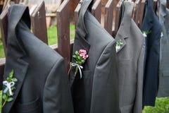 Chaquetas de la boda fotos de archivo libres de regalías