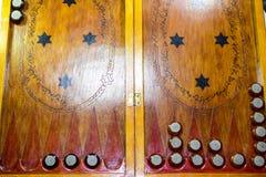 chaquete Backgammon hecho a mano Fotografía de archivo libre de regalías