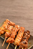 Char-broiled chicken called yakitori Stock Photos