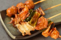 Char-broiled chicken yakitori Royalty Free Stock Photography