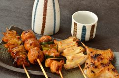 Char-broiled chicken yakitori Stock Image