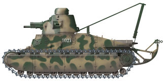 Char D-1 Royalty Free Stock Images