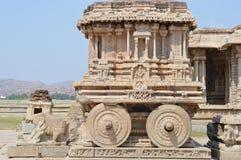 Char en pierre au temple de Vittala, Hampi images libres de droits