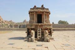 Char en pierre au temple de Vittala, Inde de Hampi images stock
