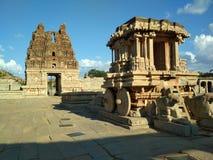 Char en pierre Hampi, Karnataka, Inde photographie stock