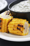 Char grilled corn on the cob Royalty Free Stock Images