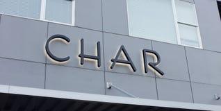 Char Restaurant Logo stock photos