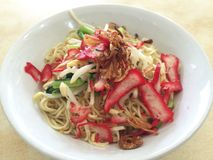 Char siew Noodles Royalty Free Stock Image