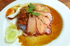 Char siew and roasted pork with rice Royalty Free Stock Image