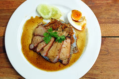 Char siew and roasted pork with rice Stock Image