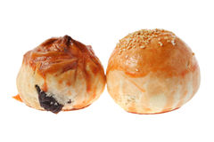 Char Siu Bun and Salted Egg Bun Royalty Free Stock Photography