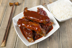 Chinese Sticky Pork Spare Ribs Royalty Free Stock Photos