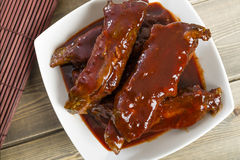 Chinese Sticky Pork Spare Ribs royalty free stock photography