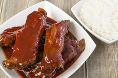 Chinese Sticky Pork Spare Ribs Stock Images