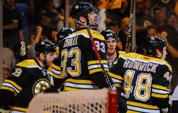 Chara de Zdeno de la defensa de los Boston Bruins Foto de archivo libre de regalías