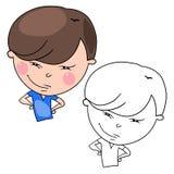 Charackter dos desenhos animados ilustração do vetor