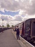 Characte del guardia del tren Fotografía de archivo