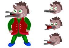 Character animation platypus, vector illustration Royalty Free Stock Photos