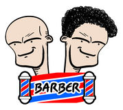 Character barber Royalty Free Stock Photo
