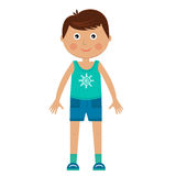 Character boy in sportswear Royalty Free Stock Image