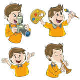 Character boy Stock Images