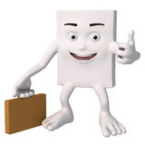 Character with briefcase Royalty Free Stock Photos