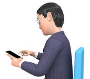 Character Businessman Represents Phone Call And Calling 3d Rendering Stock Photos