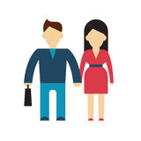 Character of businessman and woman flat Stock Photo
