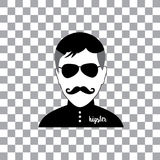 Character cartoon hipster style Royalty Free Stock Image