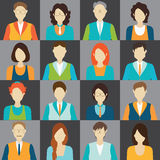 Character cartoon of office worker business personnel avatar icon Stock Images