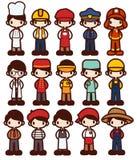 Character Cartoon in Various Job Stock Photos