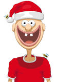 Character with christmas hat Stock Images
