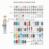 Character Creation College Teacher royalty free illustration