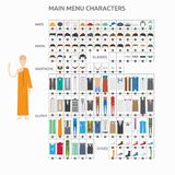 Character Creation Lecturer Monk vector illustration