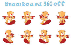 Character cute cartoon bear toys for a computer game Royalty Free Stock Photography