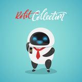 Character cute in flat style. Funny cartoon robot Royalty Free Stock Photos