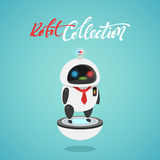 Character cute in flat style. Funny cartoon robot first aid, police Royalty Free Stock Photo